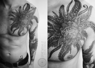 Dovydas Klimavicius Positive tattoo hypnotic flower