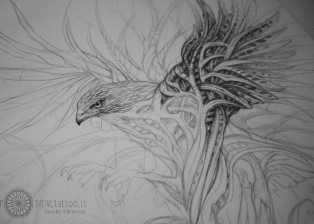 POSITIVE tattoo Dovydas Klimavicius Paper-Pencil 50x70 Hawk