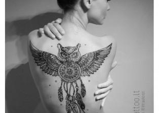 POSITIVE tatttoo Dovydas Klimavicius owl 2