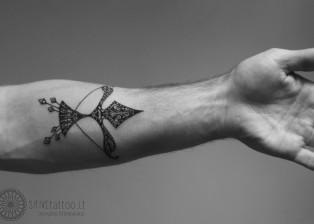 dovydas klimavicius positive tattoo Šaulys