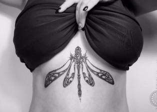 dovydas klimavicius positive tattoo Dragonfly