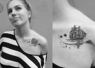 dovydas klimavicius positive tattoo Ship