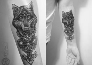 dovydas klimavicius positive tattoo wolf vilkas