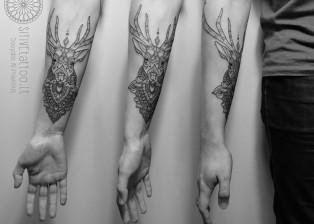 positive tattoo briedis